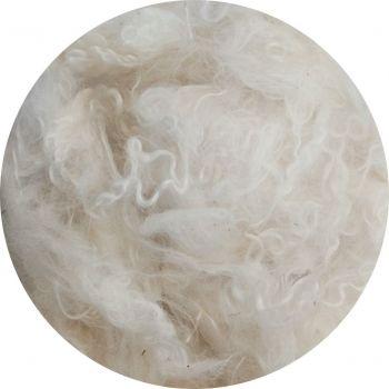 Moher fürtös gyapjú (fényes fehér)